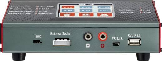 Intelligens modell akkutöltő, NiMH, NiCd, LiPo, LiIon, LiFe, ólomakku töltő 230V/12V 10A VOLTCRAFT V-Charge 300 Touch
