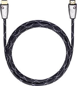 HDMI Csatlakozókábel [1x HDMI dugó - 1x HDMI dugó] 2.50 m Fekete Oehlbach EASY CONNECT STEEL Oehlbach