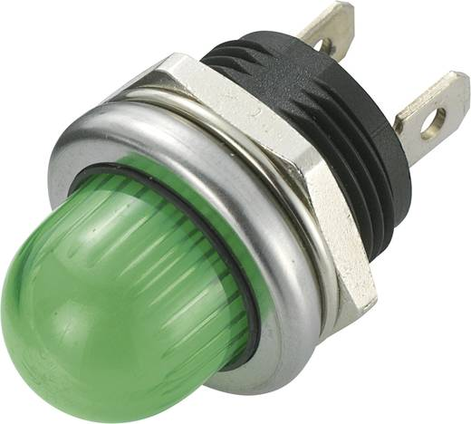 LED jelzőlámpa 12 V/DC, Ø 20 mm, zöld, SCI R9-105L1-02-WGG4