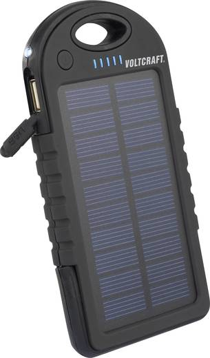 Napelemes, USB-s akkutöltő, LED világítással Li-Po 5000 mAh 5 V VOLTCRAFT SL-10 4268c6
