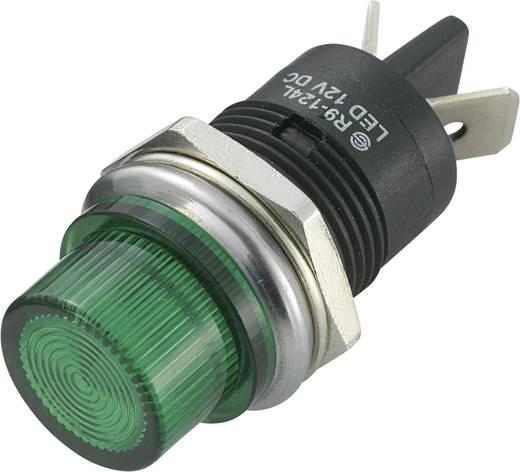 LED jelzőlámpa 12 V/DC, Ø 20 mm, zöld, SCI R9-124LB1-01-BGG4