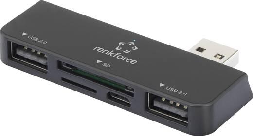 Renkforce USB 2.0 hub és kártyaolvasó Windows Surface-hez