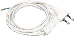 Kopp 140302095 Zsinórkapcsoló Fehér 1 x KI/BE 2.5 A 1 db Kopp