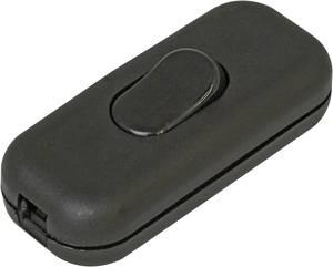 Zsinórkapcsoló törésgátlóval Fekete 1 x KI/BE 2 A 1 db, Kopp 191305001  Kopp
