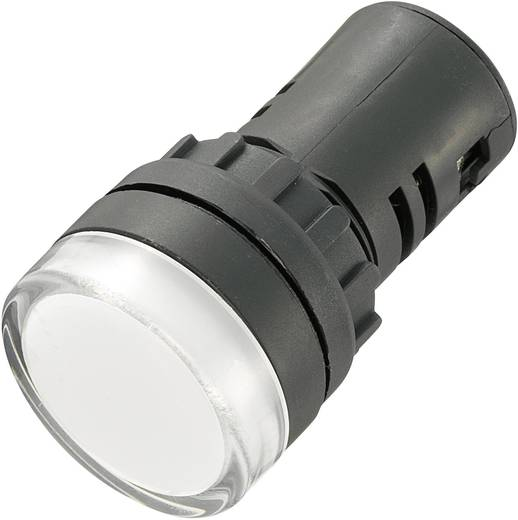 LED-es jelzőlámpa 230 V, Ø 29 mm, fehér, AD16-22DS/230V/W