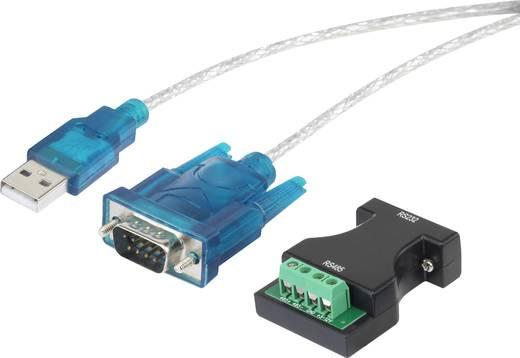 USB soros átalakító kábel, USB-ről 9 pólusú D-SUB + RS232 csatlakozóra, aranyozott, renkforce