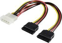 Y átalakító kábel, IDE-ről 2 db SATA-ra, 20 cm, Renkforce (RF-4212156) Renkforce