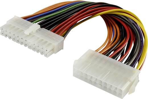 Belső számítógép tápkábel hosszabbító, 1x ATX tápdugó, 24 pólus - 1x ATX tápdugó, 20 pólus, 0,12 m, renkforce