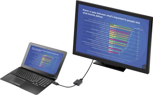 DisplayPort - VGA átalakító adapter, 1x DisplayPort dugó - 1x VGA aljzat, aranyozott, fekete, Renkforce