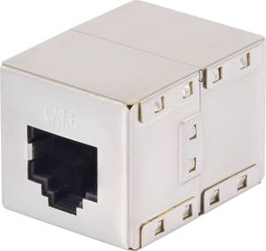 Hálózati kábel toldó adapter CAT 6 [1x RJ45 alj - 1x RJ45 alj] fémes renkforce Renkforce