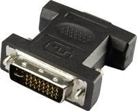 DVI - VGA átalakító adapter, 1x DVI dugó 24+5 pól. - 1x VGA aljzat, fekete, Renkforce Renkforce