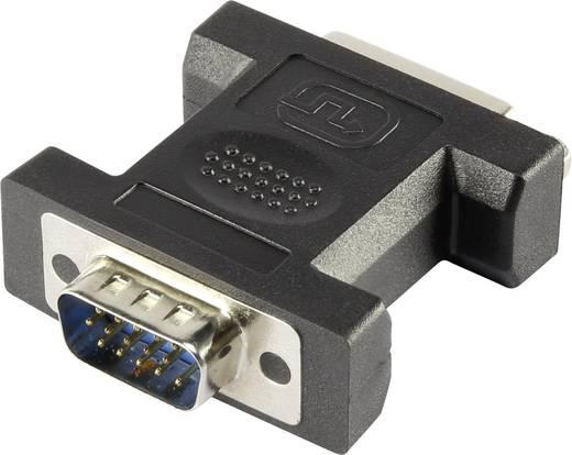Átalakító DVI-ról VGA-ra, [1x DVI alj, 24+5 pólus - 1x VGA dugó] fehér, csavarozható, renkforce