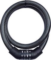 Számzáras kerékpárzár szimbólumokkal, fekete, Security Plus SPS 100 (12026801) Security Plus