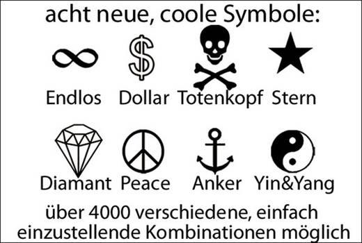Számzáras kerékpárzár szimbólumokkal, fekete, Security Plus SPS 100