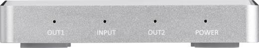 2 portos HDMI elosztó, alumínium ház, Ultra HD képes 3648 x 2160 pixel, SpeaKa Professional