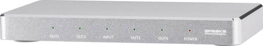 4 port HDMI elosztó SpeaKa Professional Alumínium házzal, Ultra HD-re alkalmas 3648 x 2160 pixel