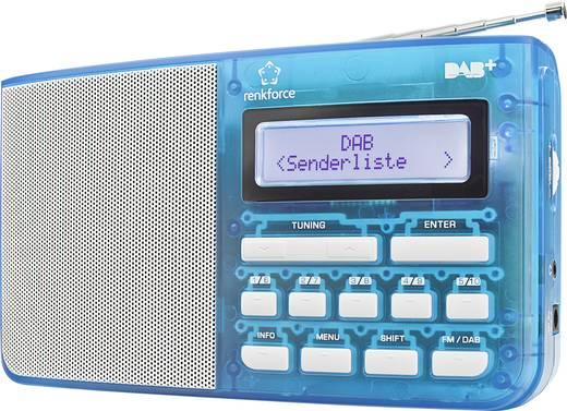 DAB+ táskarádió, kék/átlátszó, renkforce DAB5