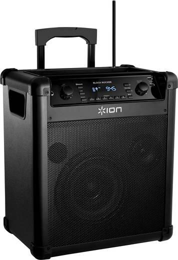 Hordozható PA hangszóró Bluetooth-tal, beépített rádióval, ION IPA76 Blockrocker