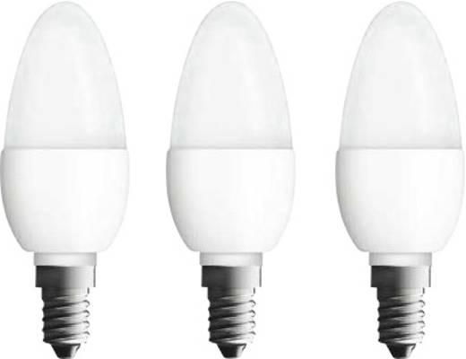 LED OSRAM 230 V E14 5.3 W = 40 W Melegfehér EEK: A+ Gyertya forma (Ø x H) 38 mm x 105 mm 3 db