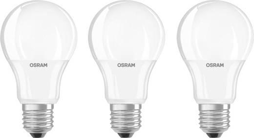 LED izzó, E27, 9W=60W, melegfehér, körte formájú, OSRAM, 3 db-os készlet