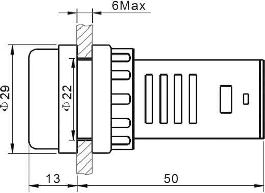 Duo LED-es jelzőlámpa 12 V, Ø 29 mm, piros, AD16-22SS/12V/R-G