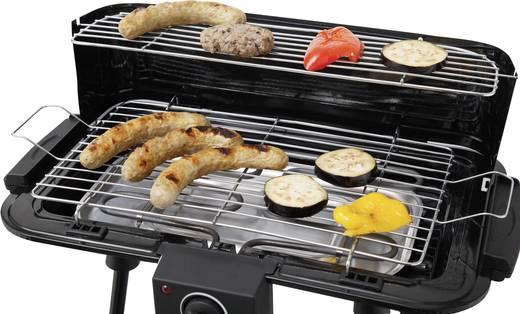 Elektromos grillsütő, kerti grill állvánnyal, szélvédővel tepro Albertville 4008