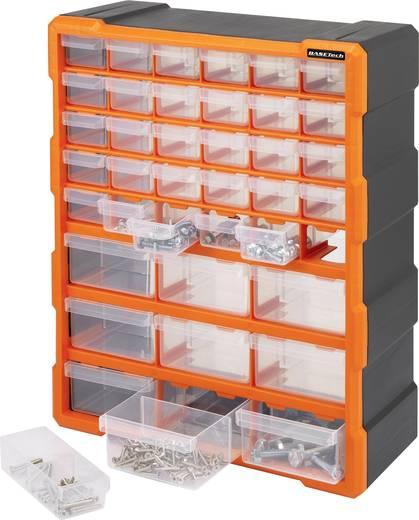 Fiókos alkatrésztároló szekrény, 39 fiókos 160 x 385 x 485 Basetech 1405020