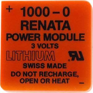 1000-0 lítium elem, 3V 950 mAh, Renata Powermodul 1000-0 Renata