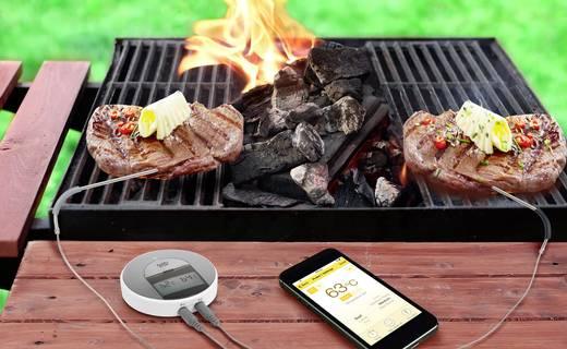 Vezeték nélküli grill hőmérő, okostelefonhoz Android, vagy iOS alkalmazáshoz renkforce A550 App