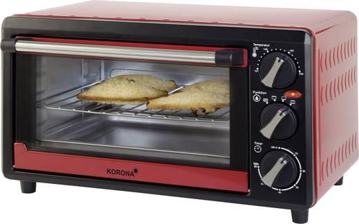 Mini sütő, időzítővel, grill funkcióval, 1200 W, fekete/piros, Korona