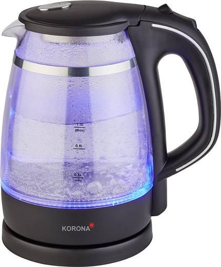 Vízforraló, duplafalú üveg kanna, 1600W, 1 liter, Korona 20610