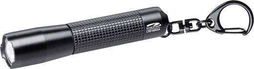 LED-es mini zseblámpa, kulcstartós, elemes, 72 lm, 28g, fekete, LiteXpress LX0160AAA