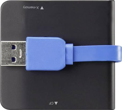Külső memóriakártya olvasó USB 3.0, fekete, renkforce G-C3329