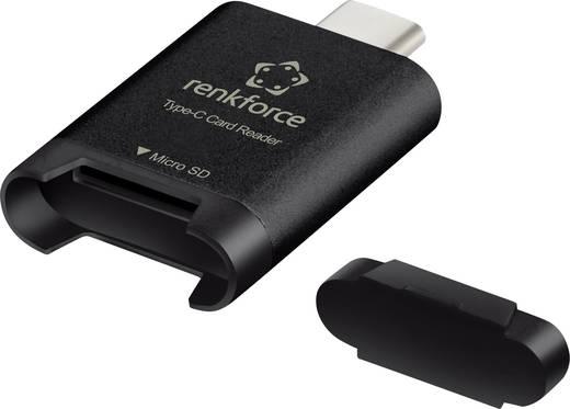 Külső memóriakártya olvasó USB-C, fekete, renkforce R23