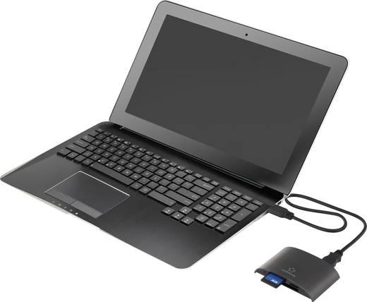 Külső memóriakártya olvasó USB 3.0, fekete, renkforce ER-270