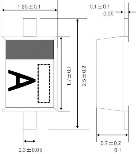 Dióda, ház típus: UMD2, ROHM Semiconductor 1SS355TE17