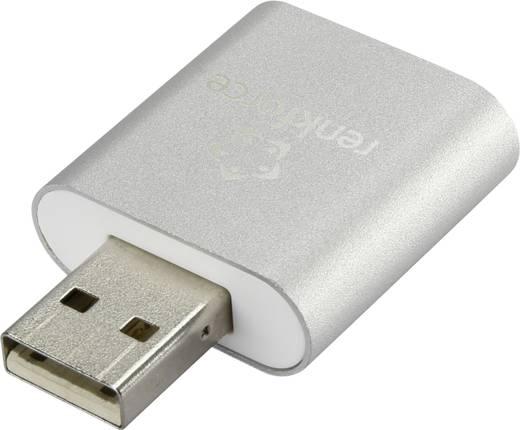 USB headset adapter / külső mini hangkártya, alumínium, Renkforce
