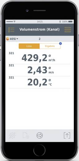 Testo légáramlásmérő anemométer, bluetooth funkcióval Smart készülékekhez Testo 405i Smart Probes 0560 1405