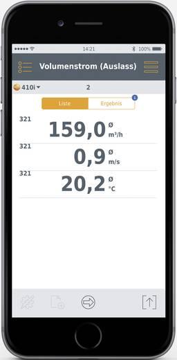 Testo légáramlásmérő anemométer, bluetooth funkcióval Smart készülékekhez Testo 410i Smart Probes 0560 1410