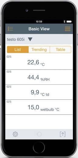 Testo levegő páratartalom mérő, hygrométer, bluetooth funkcióval, Smart készülékekhez Testo 605i 0560 1605