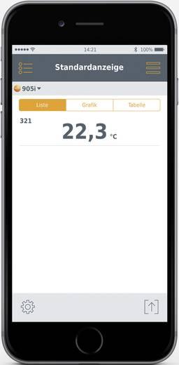 Testo levegő pillanathőmérő -50 től +150 °C-ig bluetooth funkcióval, Smart készülékekhez Testo 905i Smart