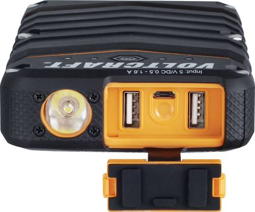 Vízálló powerbank, hordozható mobil tartalék akku, beépített LED lámpával Li-Ion 18000 mAh Voltcraft PB-20