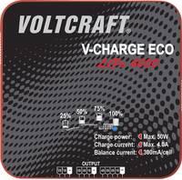 Intelligens, automata modell akkutöltő, 2-4 cellás LiPo akkutöltő 230 V 400 mA VOLTCRAFT V-Charge Eco LiPo 4000 (1406443) VOLTCRAFT