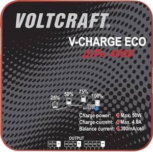 Intelligens, automata modell akkutöltő, 2-4 cellás LiPo akkutöltő 230 V 400 mA VOLTCRAFT V-Charge Eco LiPo 4000 VOLTCRAFT