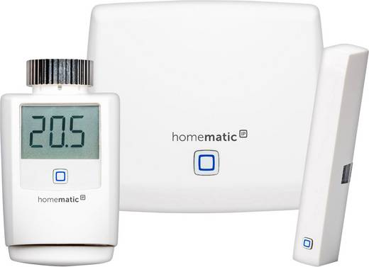 IP vezérelt, okos otthon fűtésvezérlő, fűtésszabályzó rendszer, alap készlet HomeMatic IP Starter Set HmIP-SK1