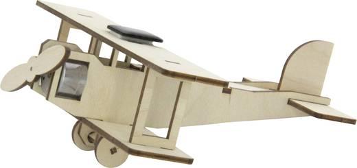 Napelemes kétfedelű repülő, fa építőkészlet, Sol Expert