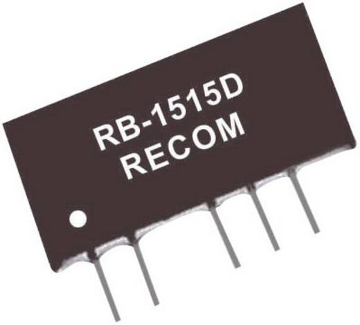 1 W-os DC/DC átalakító, RB sorozat, bemenet: 12 V/DC, kimenet: ±15 V/DC ±33 mA 1 W, Recom International RB-1215D