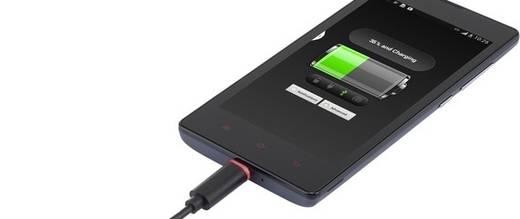 Mikro USB 2.0 gyorstöltő kábel LED-del, 1 m, renkforce