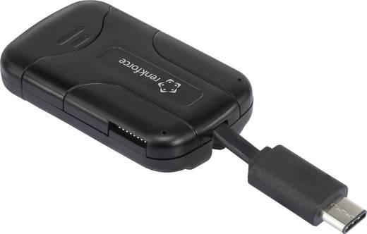 Külső memóriakártya olvasó USB-C, fekete, renkforce CR40e