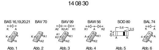 Nagyfrekvenciás kapcsoló dióda, BAV70 SOT 23